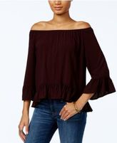 Sanctuary Julia Printed Off-The-Shoulder Top