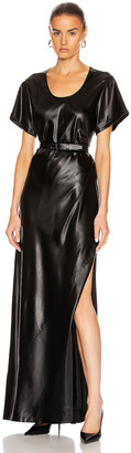Alexander Wang Wet Shine Wash & Go Maxi Dress in Black | FWRD