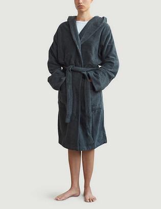 Tekla Hooded organic-cotton dressing gown