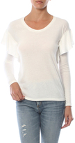 Nation Ltd. Tribeca Drop Shoulder Ruffle Long Sleeve Tee