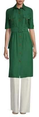 Derek Lam Short-Sleeve Utility Shirt Dress
