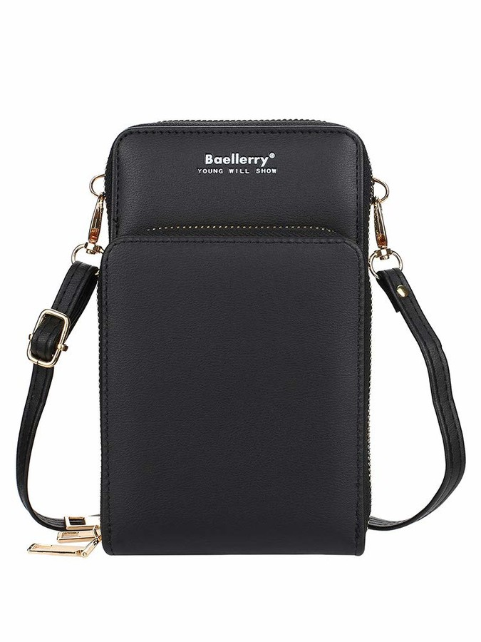 Thumbnail for your product : Romacci Women Crossbody Bag Wallet Bag PU Leather Small Crossbody Bag Cell Phone Purse Wallet with Credit Card Slots Zipper Pocket Adjustable Shoulder Strap Mini Lightweight Shoulder Bag
