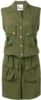8pm - button up playsuit - women - Viscose - XS