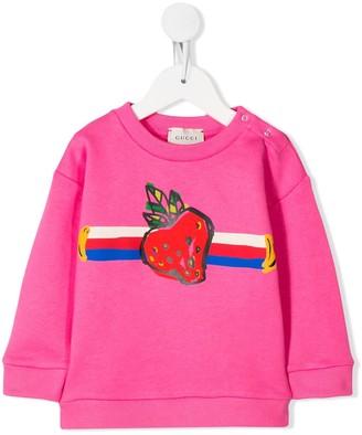 Gucci Kids Strawberry Sweatshirt