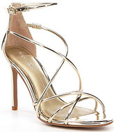 Gianni Bini Talisia Tubular Strappy Mirrored Sandals