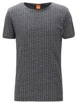 HUGO BOSS Heather Cotton Jersey T-Shirt Touching L Black