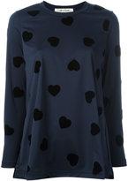 Comme des Garcons heart sweatshirt - women - Polyester - S