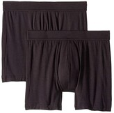 Jockey Essential Fit Supersoft Modal Boxer Brief 2-Pack (Black) Men's Underwear