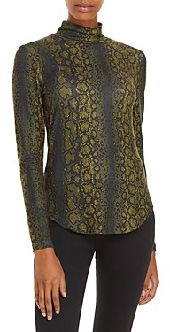 French Connection Snakeskin Print Top