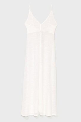 Nasty Gal Womens Let's Knit the Beach Relaxed Maxi Dress - Cream
