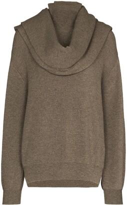 Frankie Shop Turtleneck Scarf Detail Knit Jumper