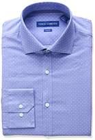 Vince Camuto Men's Slim Fit Stretch Mesh Pindot Print Dress Shirt with Collar