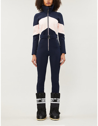 Cordova Alta belted colour-block waterproof twill ski jumpsuit