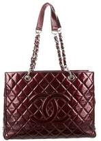 Chanel Patent Quilted Grand Shopping Tote