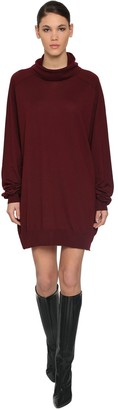 Maison Margiela New Basic Wool Jersey Knit Mini Dress