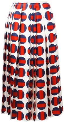 Gucci Polka-Dot Pleated Skirt