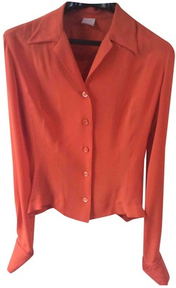 Herve Leger Orange Silk Top for Women Vintage
