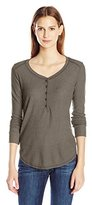 Splendid Women's Heathered Thermal Henley Top
