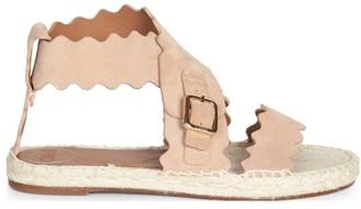 Chloé Lauren Flat Suede Sandals