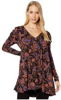 Free People Hello Lover Tunic (Black) Women's Clothing