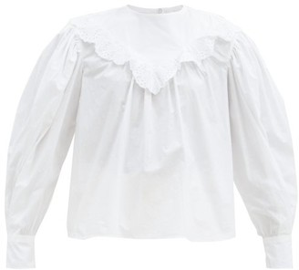 Etoile Isabel Marant Ounissa Broderie Anglaise Cotton-poplin Blouse - White
