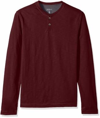 Van Heusen Men's Slim Fit Never Tuck Long Sleeve Henley Shirt