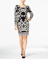 INC International Concepts Petite Jacquard Sheath Sweater Dress, Only at Macy's