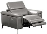 Philippa Leather Power Wall Hugger Recliner Orren Ellis Upholstery Color: Gray