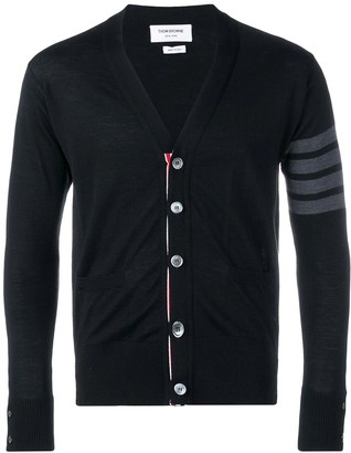 Thom Browne 4-bar Classic V-neck Cardigan