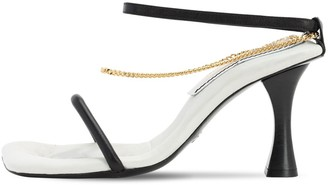 Proenza Schouler 90MM LEATHER & CHAIN SANDALS