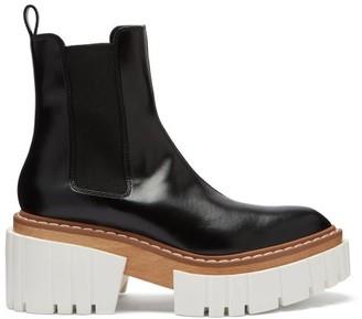 Stella McCartney Emilie Faux-leather Platform Chelsea Boots - Black White