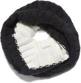 Nine West Hand Knit Colorblock Neckwarmer