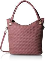 MG Collection Cutout Woven Bucket Bag