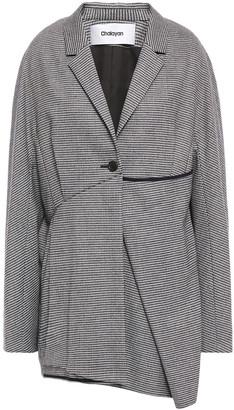 Chalayan Asymmetric Houndstooth Wool-blend Blazer