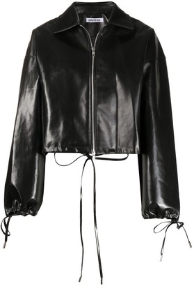 Supriya Lele Oversized Faux-Leather Jacket