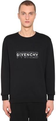 Givenchy Paris Printed Crewneck Sweater