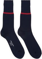 Comme des Garcons Navy Stripe Socks