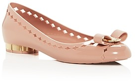 Salvatore Ferragamo Women's Jelly Vara Bow Cutout Flats
