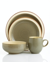 Denby Dinnerware, Fire Sage 4 Piece Place Setting