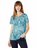 Erika Women's Maxi Split Neck Tee Shirt with Insert
