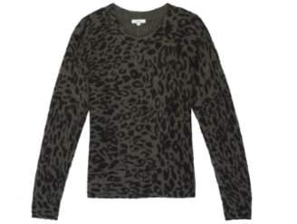 Rails Olive Leopard Print Wool Joanna Knitwear - medium | wool | olive - Olive