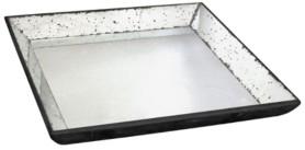 A&B Home Waverly Mirrored Square Tray, Medium