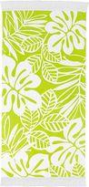 Yellow Leaf Fringe Beach Towel