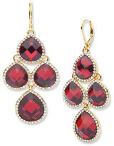 Anne Klein Chand Siam Epoxy Stone Drop Earrings