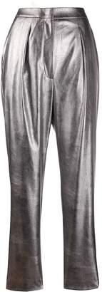 Incotex high-rise metallic trousers