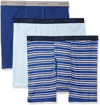 Hanes Men's Ultimate 3-Pack Big and Tall Boxer Brief Stripe XXL
