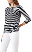 Hobbs Rebecca Ruched Breton Stripe Top