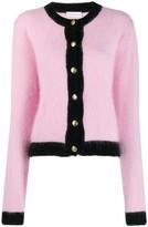 Chiara Ferragni black trim knitted cardigan