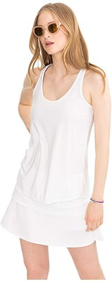Southern Tide Racerback Active Tank (Classic White) Women's Clothing
