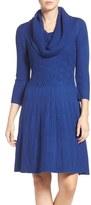 Eliza J Petite Women's Fit & Flare Sweater Dress